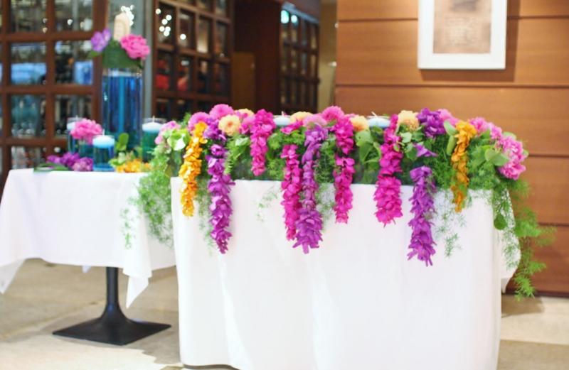 新作メインテーブル テーマは『ハワイ』