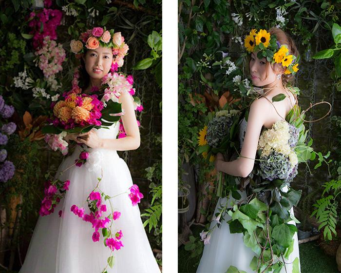 結婚写真|お花に囲まれたフォトウエディング